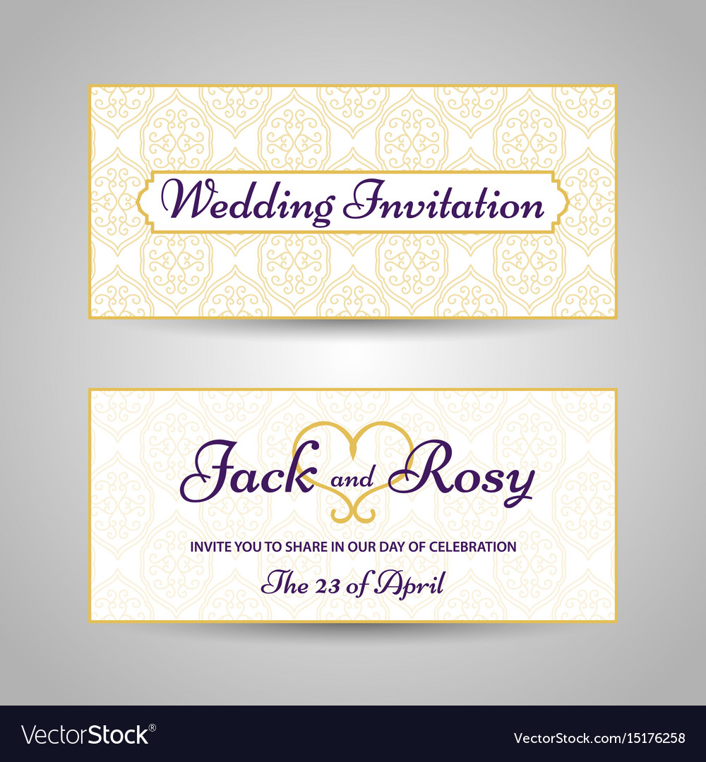 Arabic style wedding invitation royalty free vector image arabic style wedding invitation vector image stopboris Images