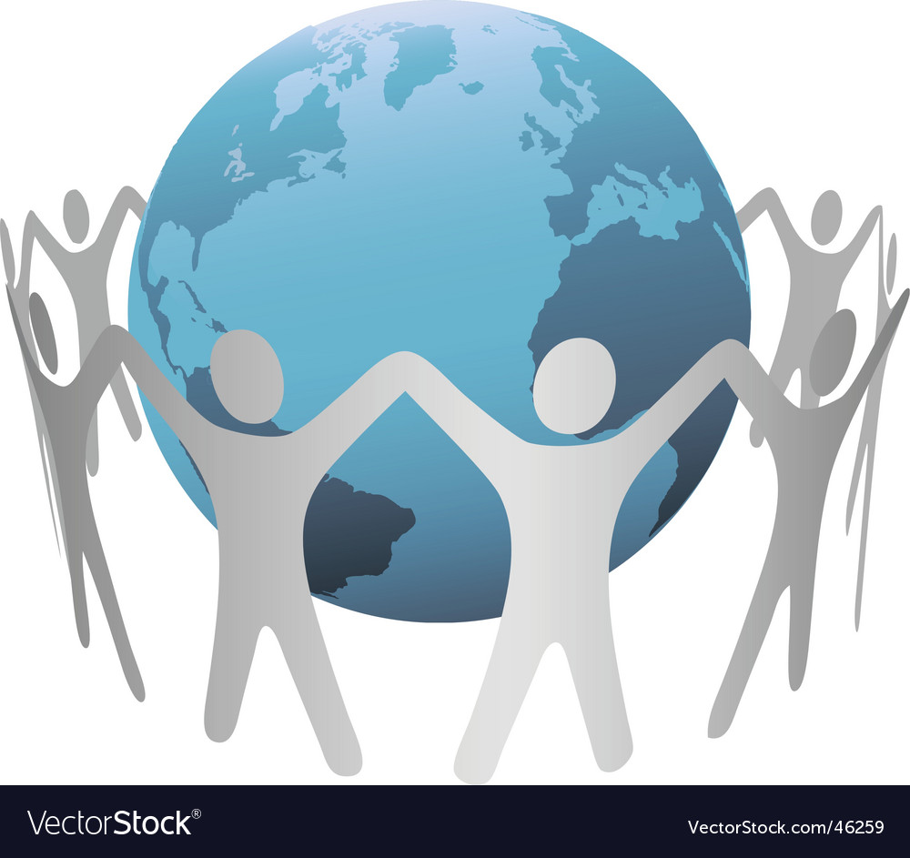 Global people vector image