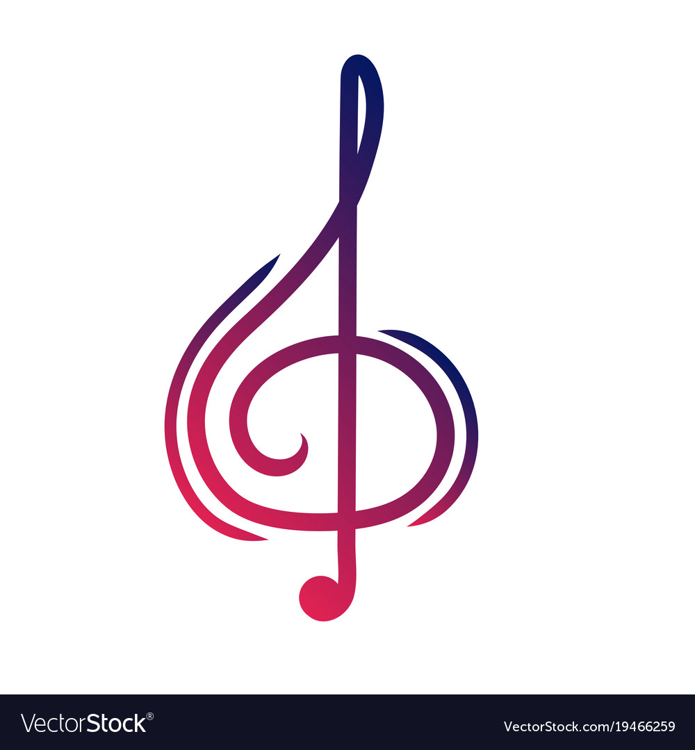 A treble cleaver is a symbol of music sign of vector image