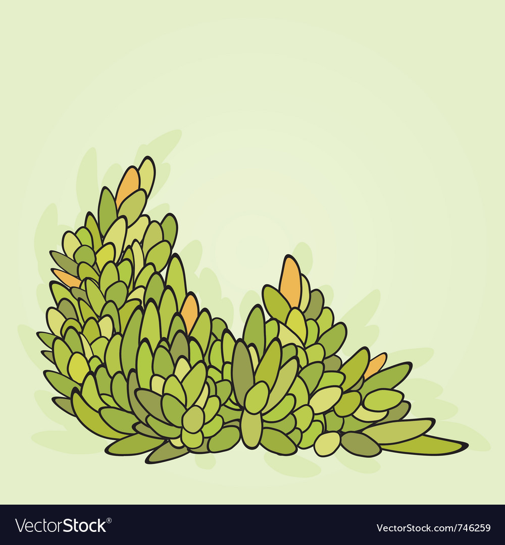 Abstract leaf pattern vector image