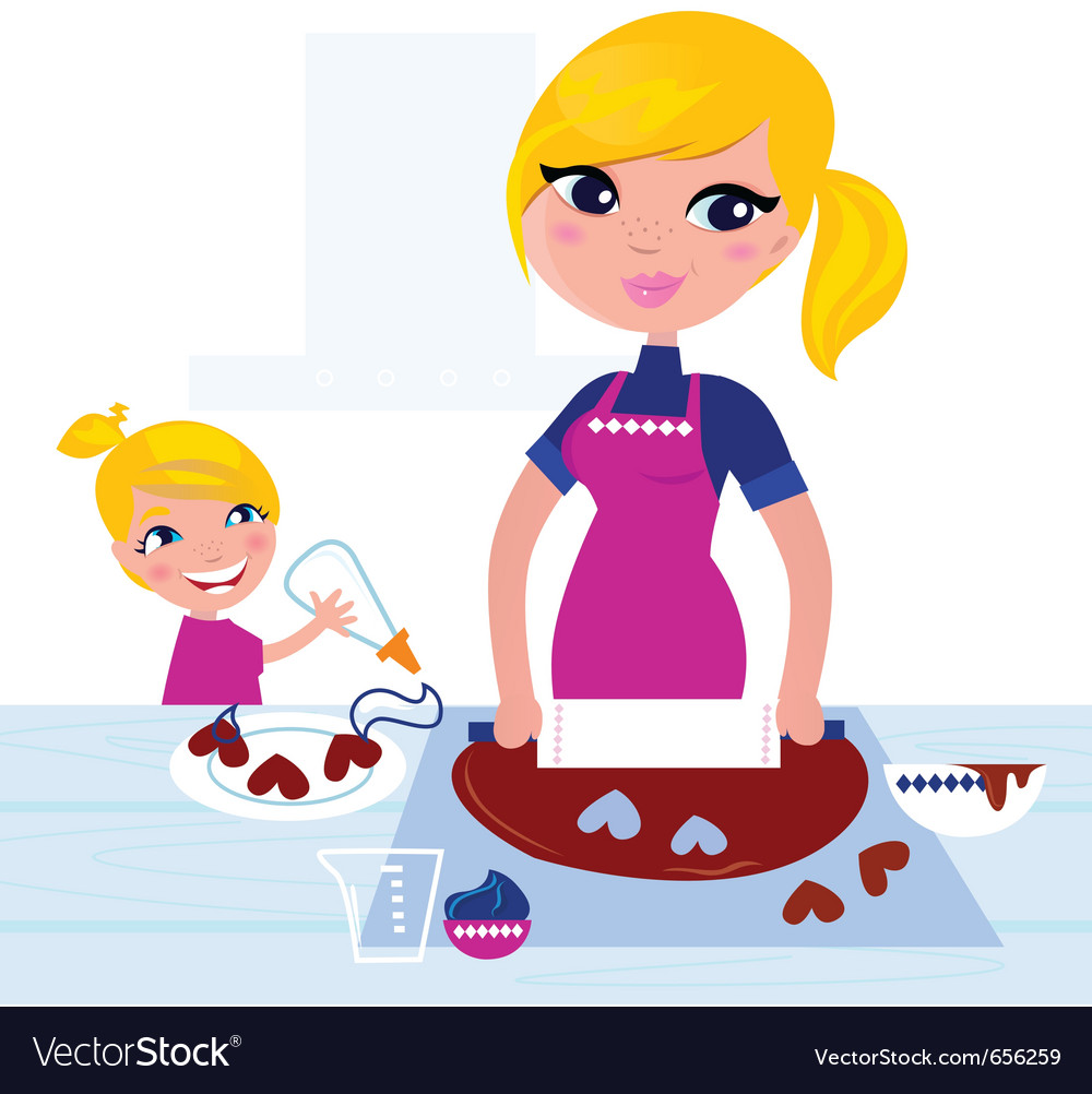 Christmas baking vector image