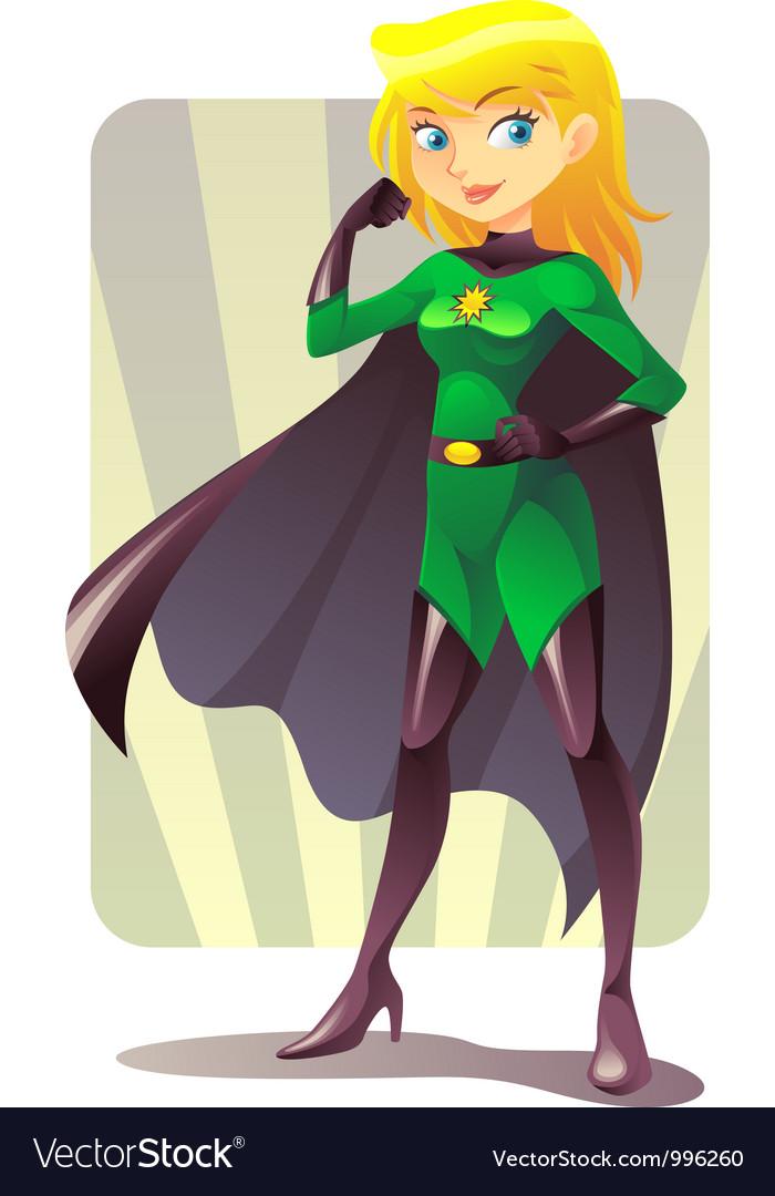 Cartoon superhero vector image