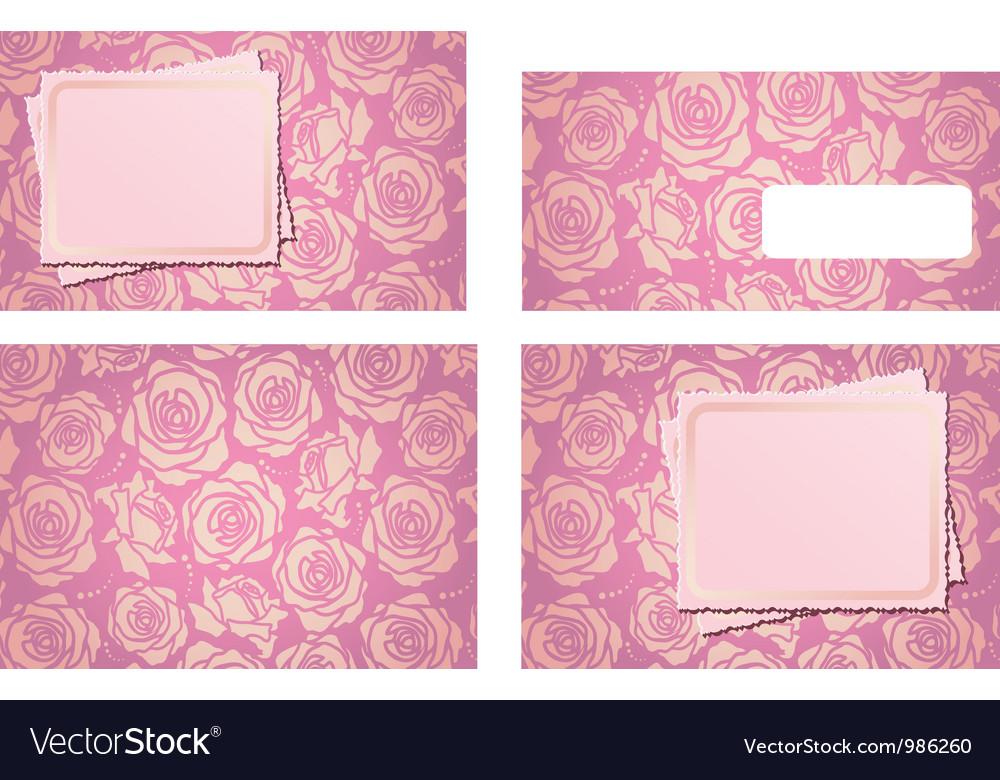 Wedding invitation template set and envelope vector image wedding invitation template set and envelope vector image stopboris Images