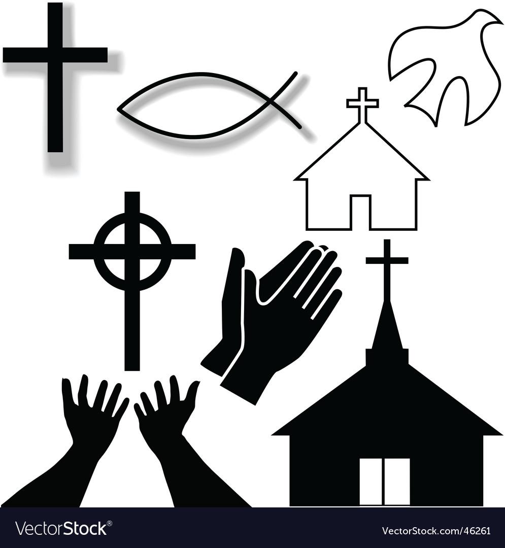 Christian symbols vector image
