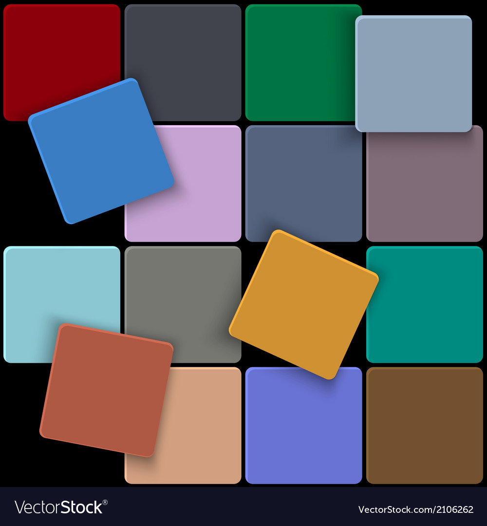 3d minimal colorful square background vector image