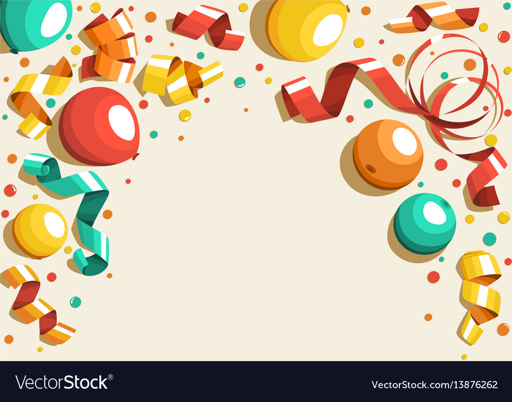 Festive celebration concept with colorful balloons vector image