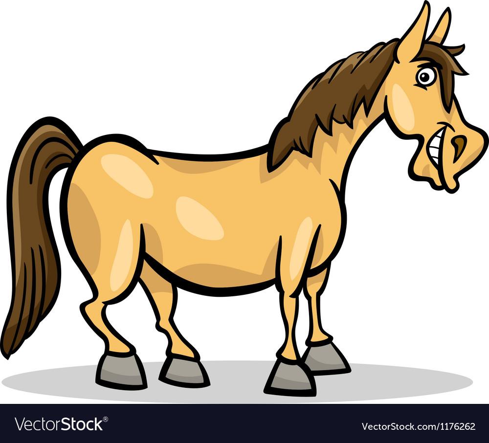 horse farm animal cartoon royalty free vector image