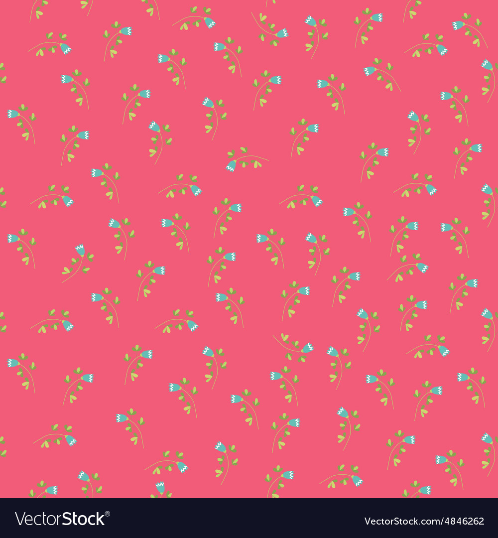Seamless vintage flower pattern vector image