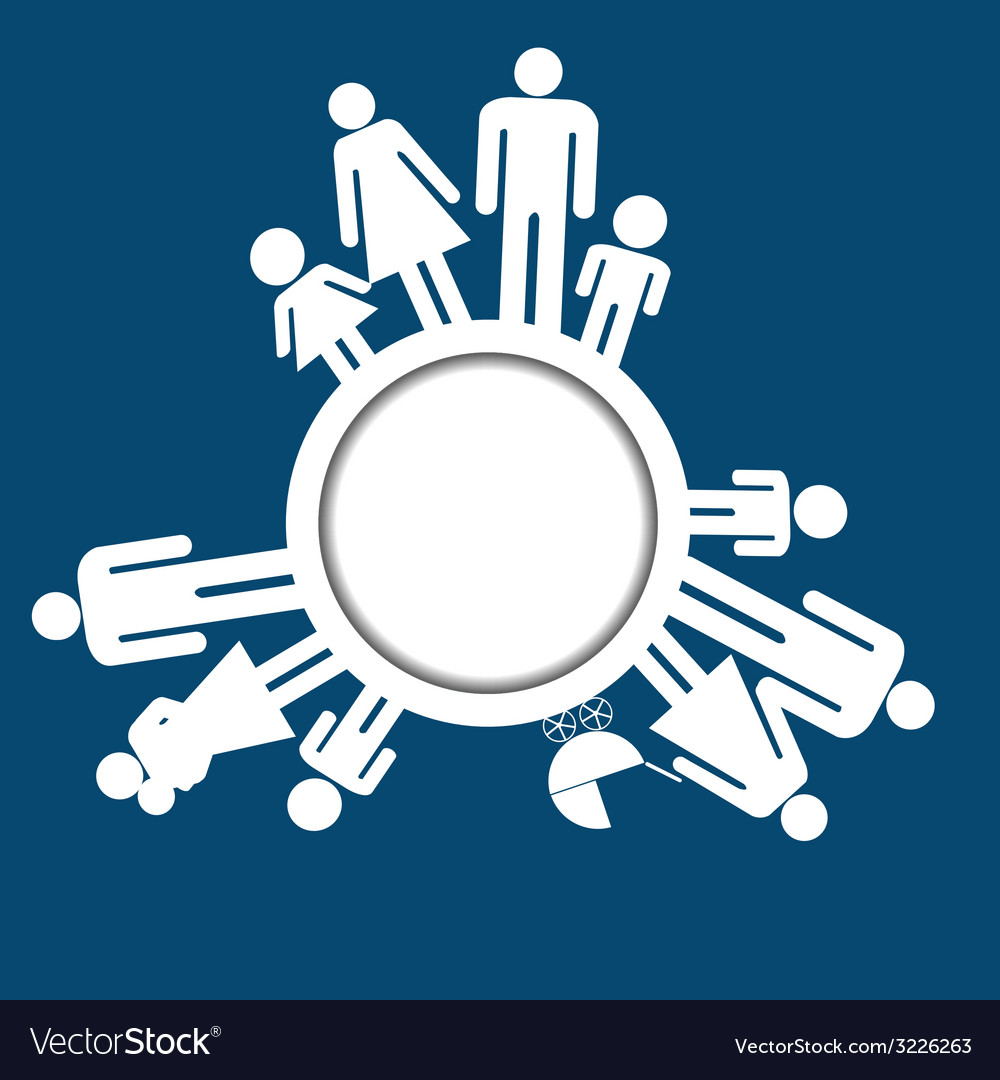 Family icons pictograms vector image