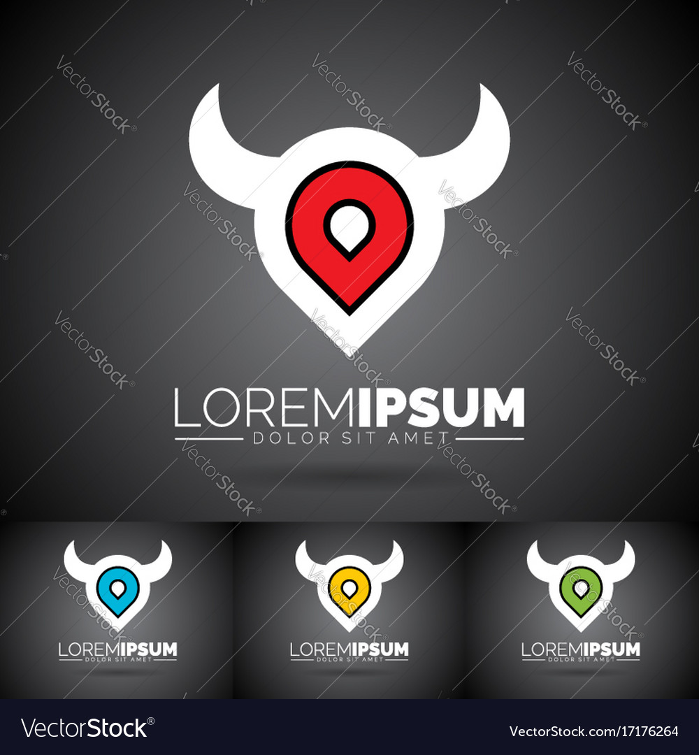 Abstract logo design template with design vector image