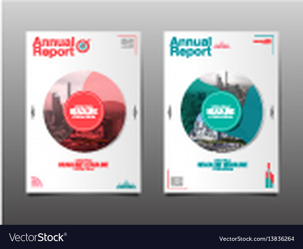 Annual report future business template layout vector image