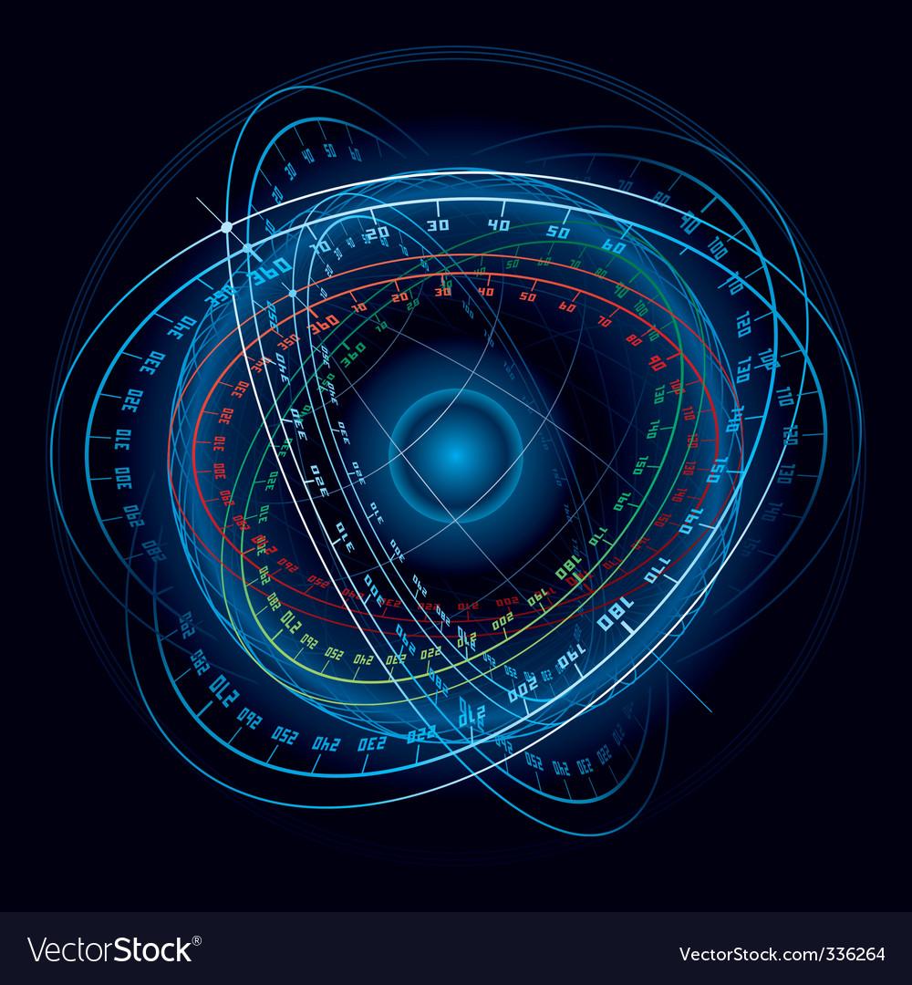 Space navigation sphere vector image