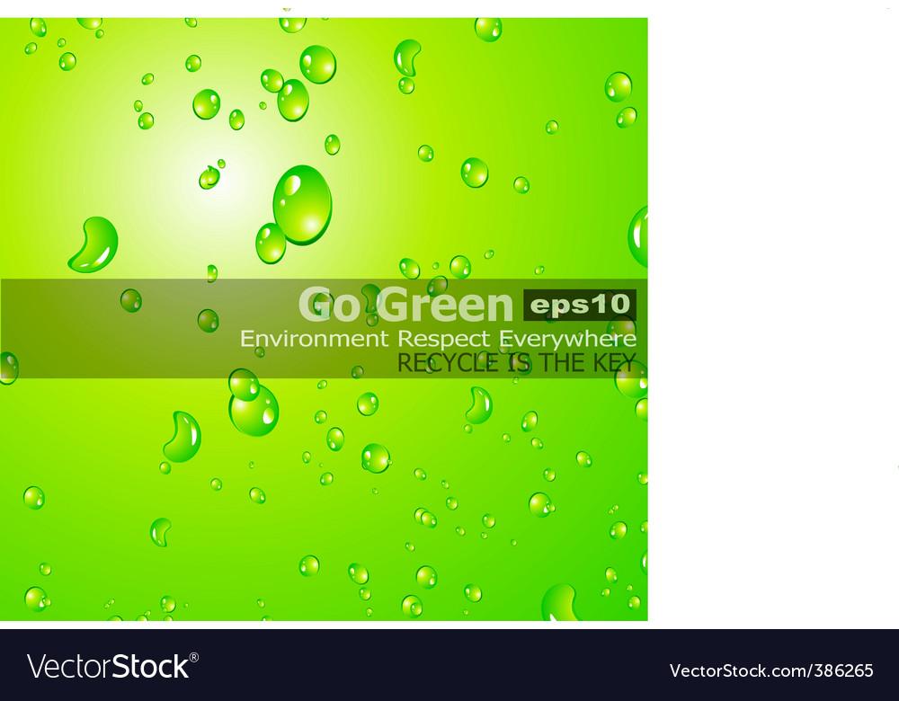 Liquid drops background vector image
