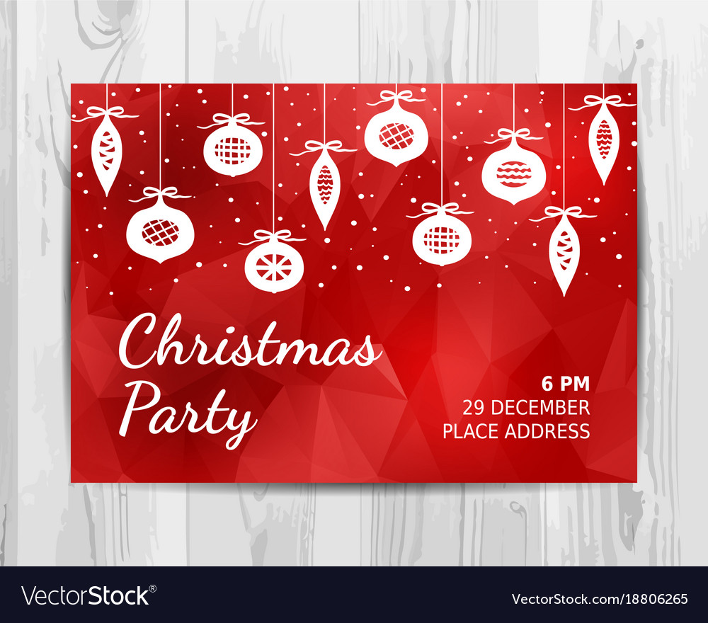 Christmas party invitation card christmas party Vector Image