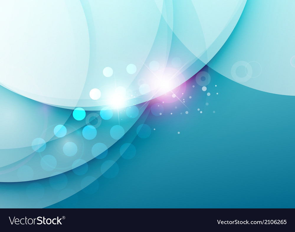 Elegant color waves with light flares vector image
