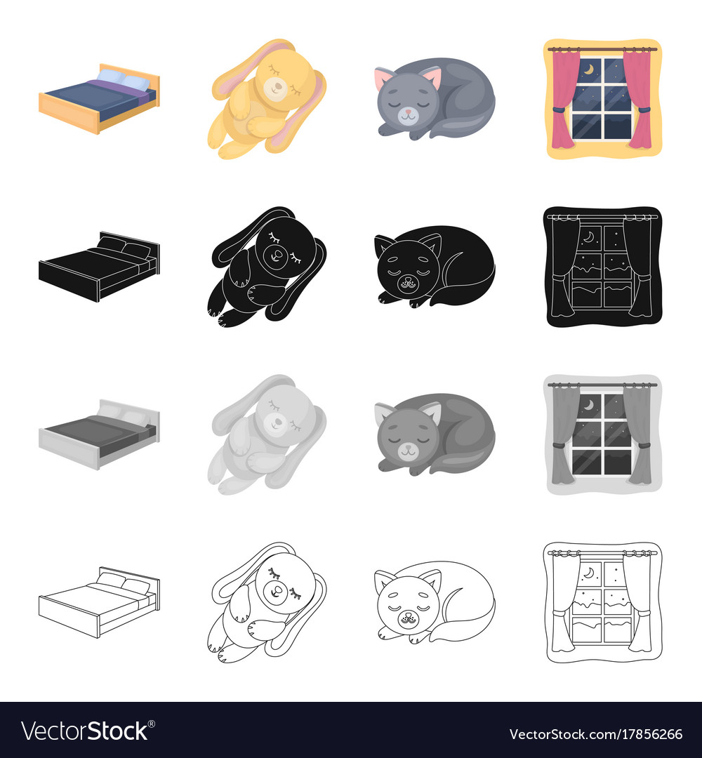 Rest sleep accessories and other web icon in vector image