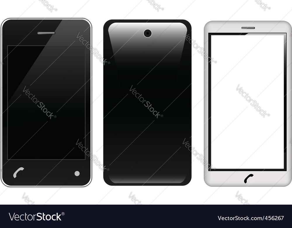 Touch screen smart phones vector image