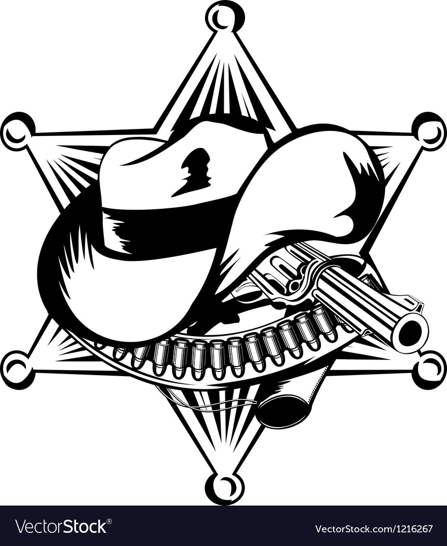 Sheriffs star vector image