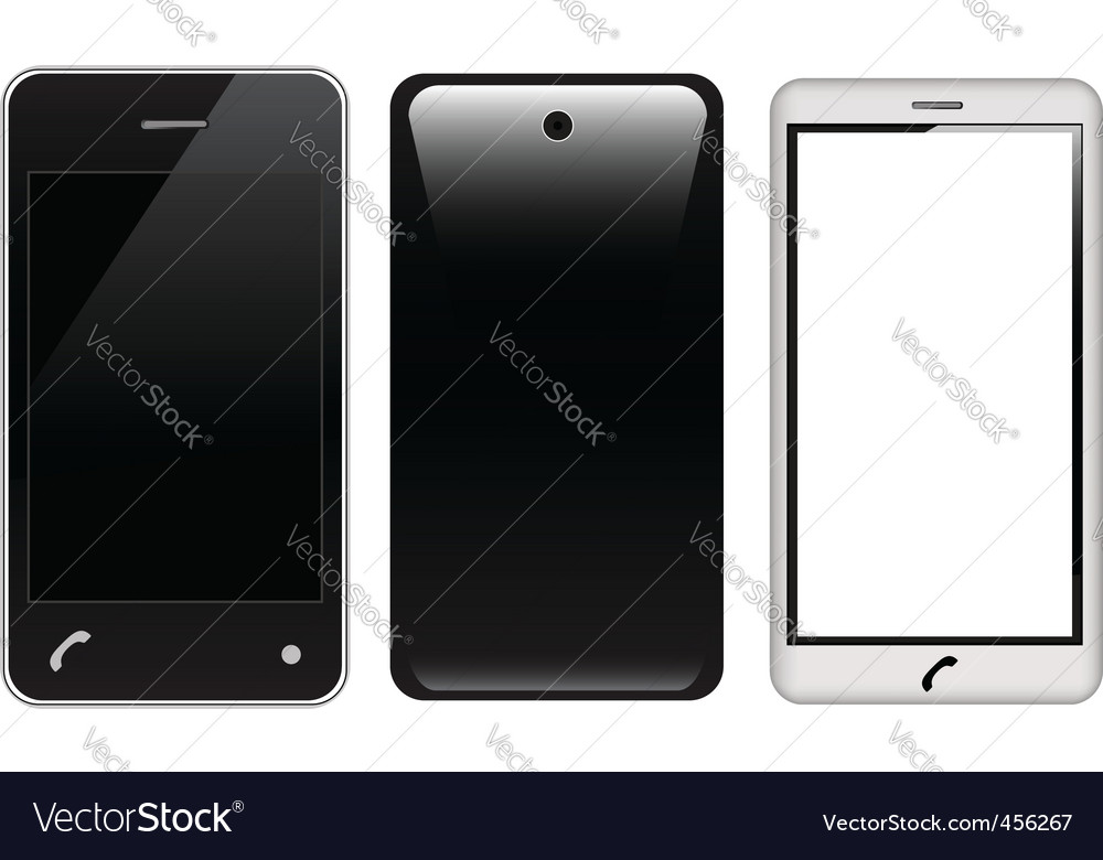 Touch screen smart phones vector image