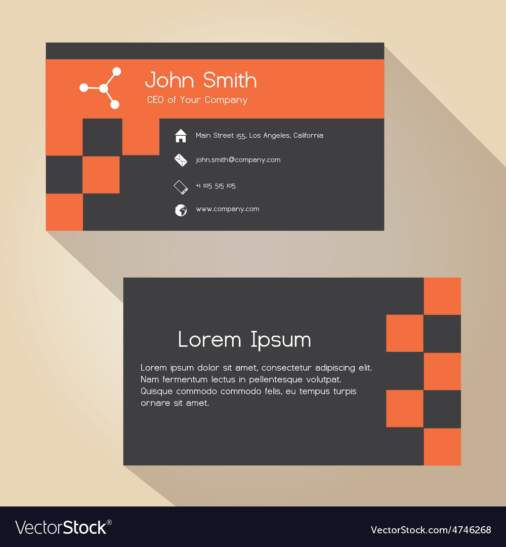Dark gray and red simple business card design vector image colourmoves Gallery