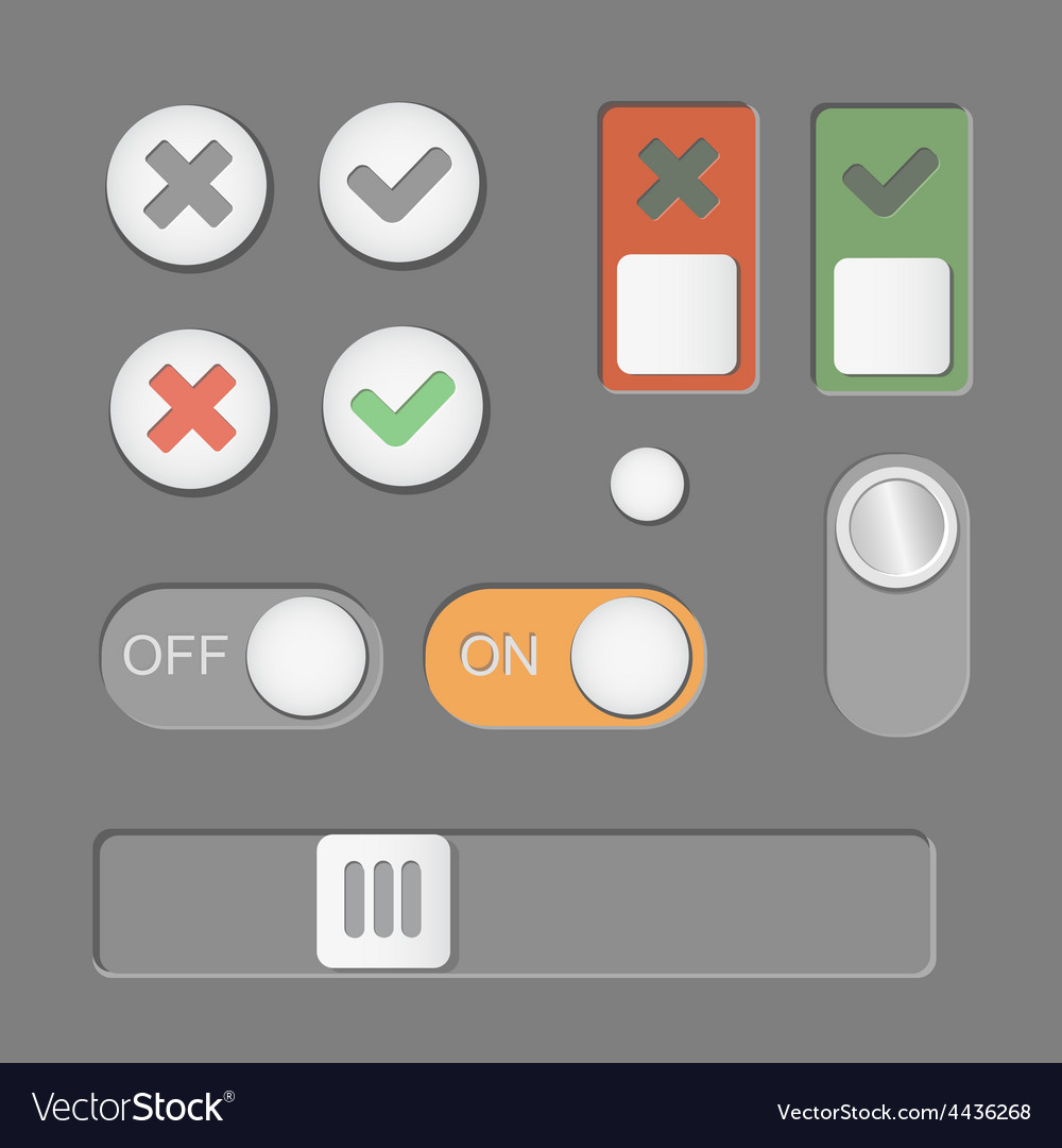 Toggle switch icons on dark background on vector image biocorpaavc Images