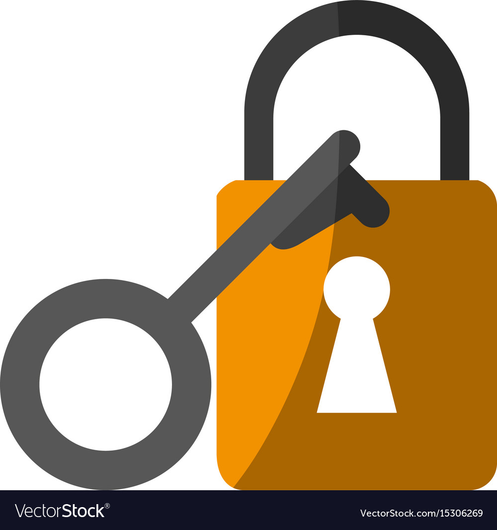 Key lock close vector image