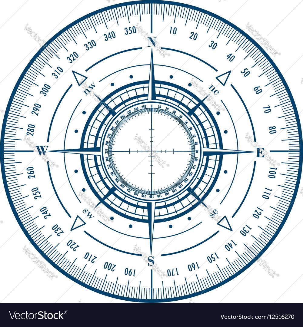 Radar compass rose vector image
