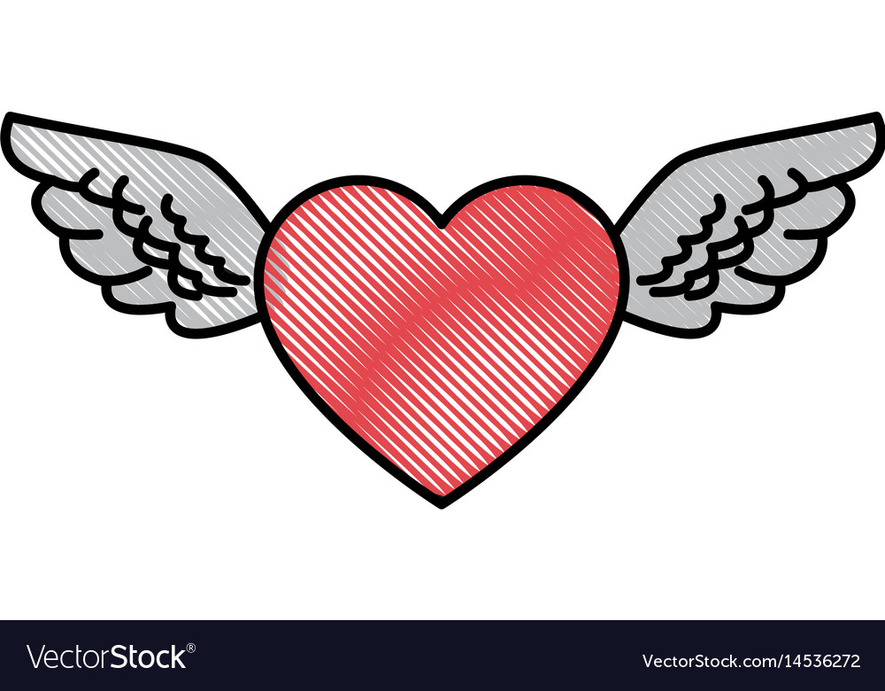 Line Art Love Heart : Shining red heart valentines day clipart