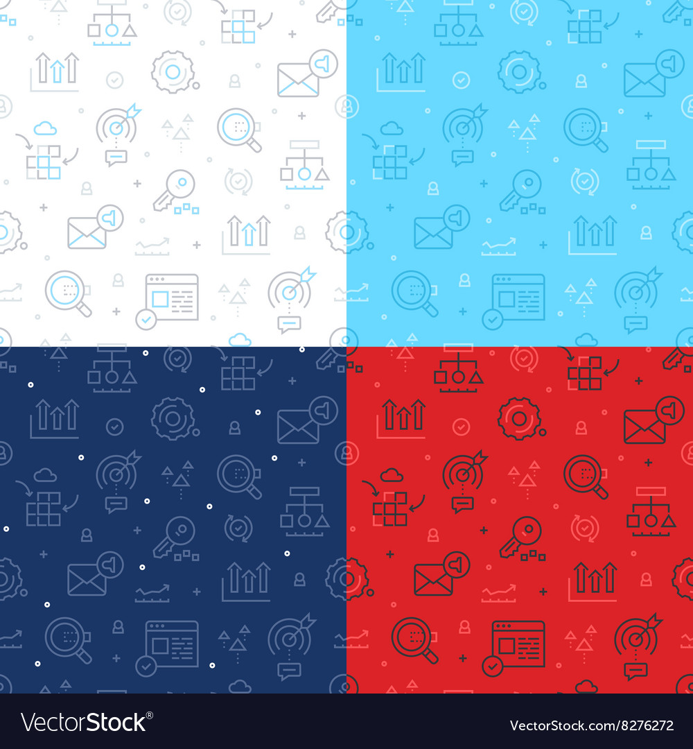 SEO Technology Seamless Pattern vector image