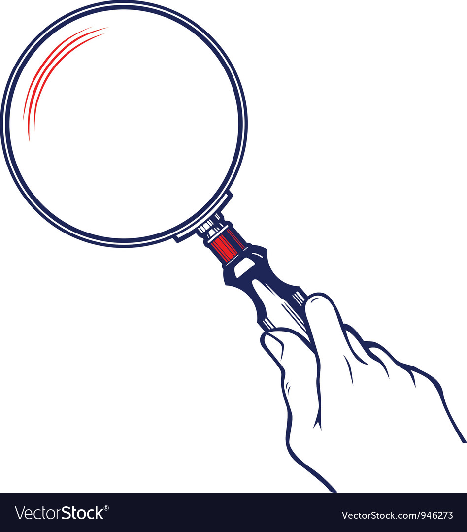 Zoom magnifier vector image