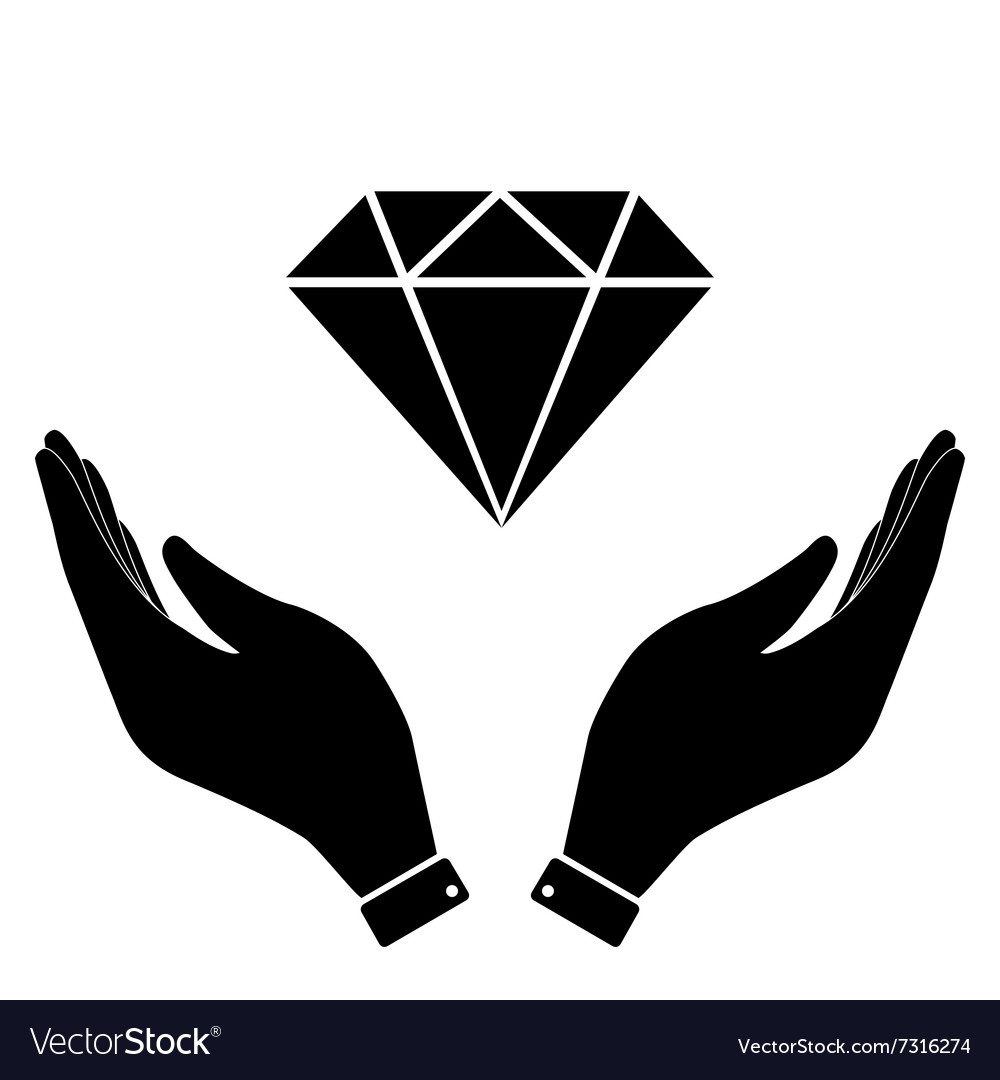 Diamond in hand icon royalty free vector image diamond in hand icon vector image biocorpaavc