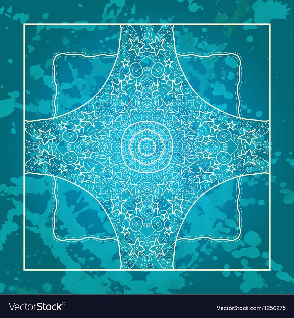 Oriental traditional ornament motif vector image