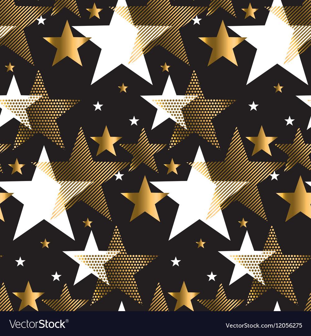 Seamless dots modern luxury pattern on black vector image