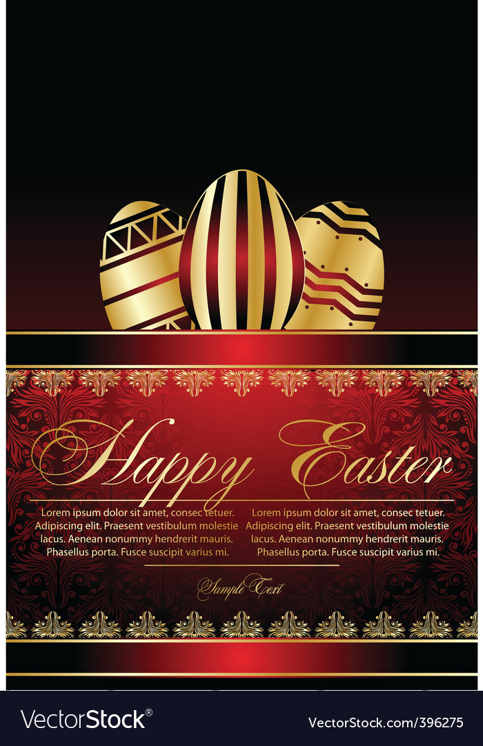 Stylized Easter eggs vector image