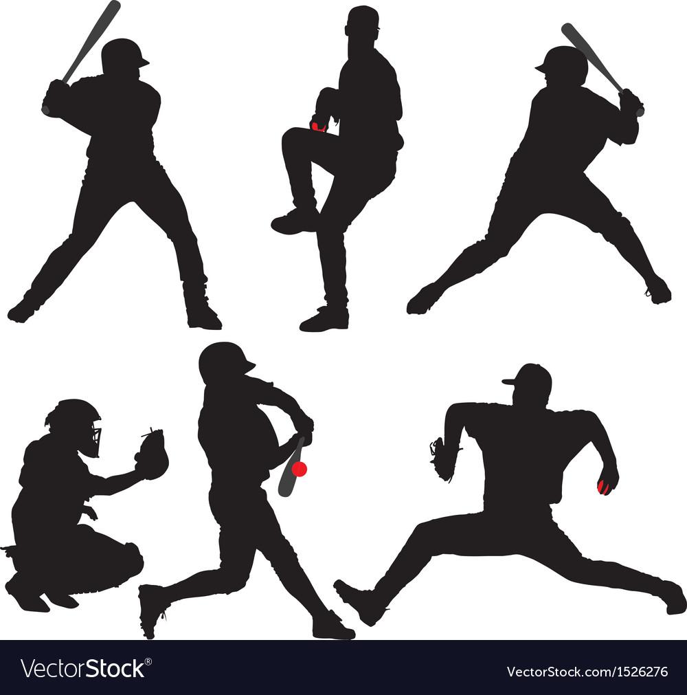 Baseball Silhouette vector image