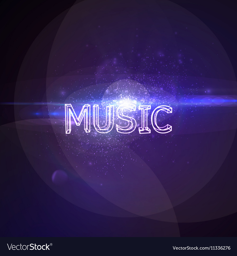 Music 3D Neon Sign vector image