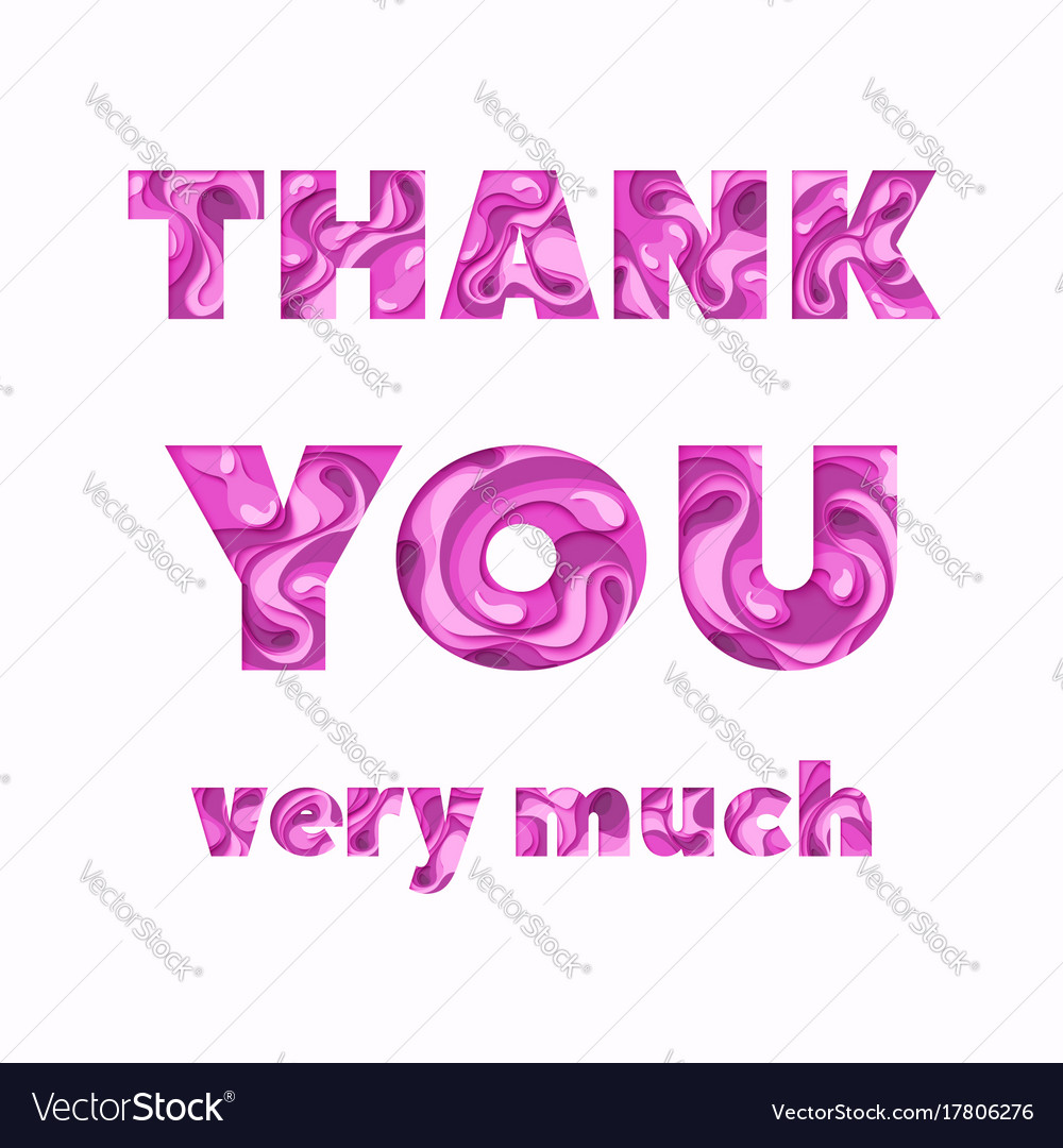 Thank You Greeting Card Royalty Free Vector Image