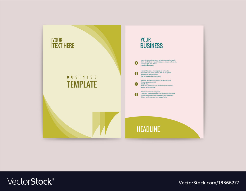 Advertisement Flyer Design Elements Modern Style Vector Image