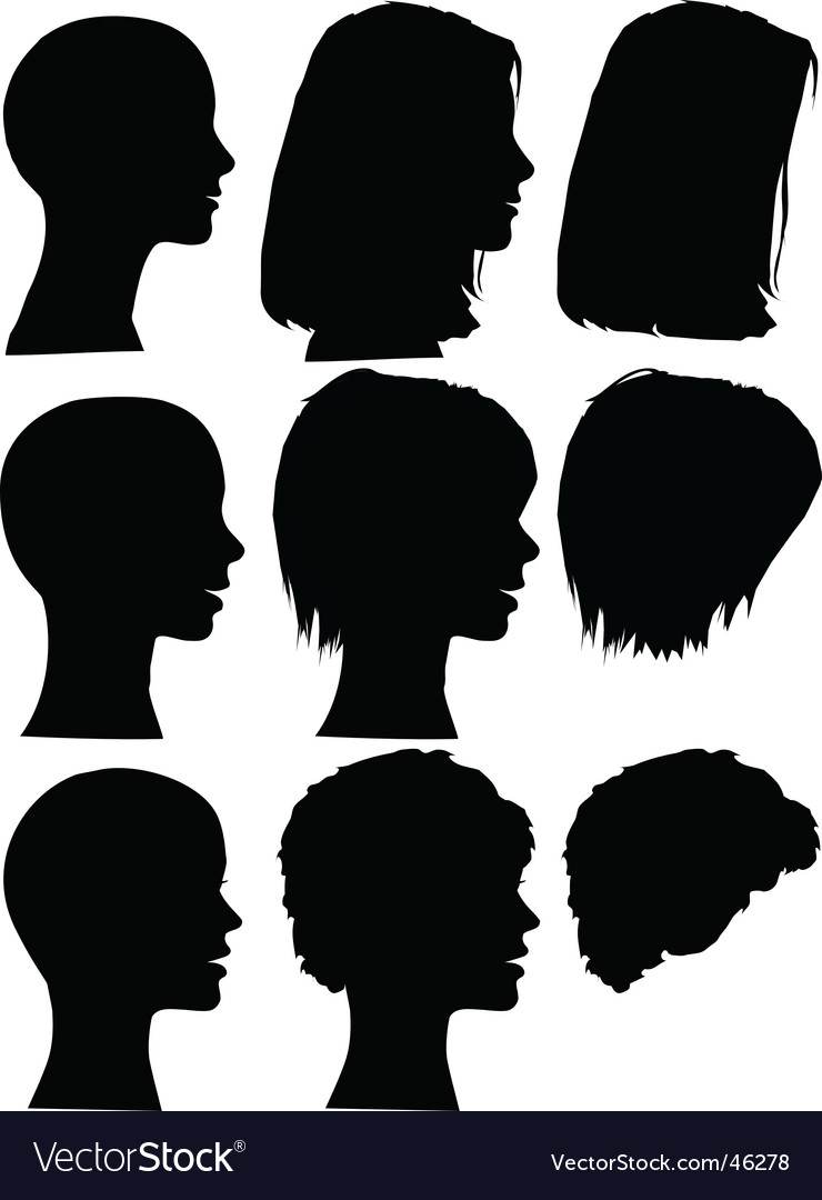 Hair style beauty salon profiles vector image