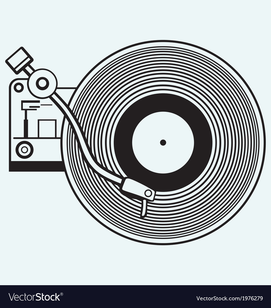 Record player vinyl record Royalty Free Vector Image