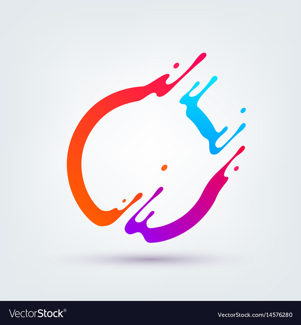 Abstract colorful circle vector image