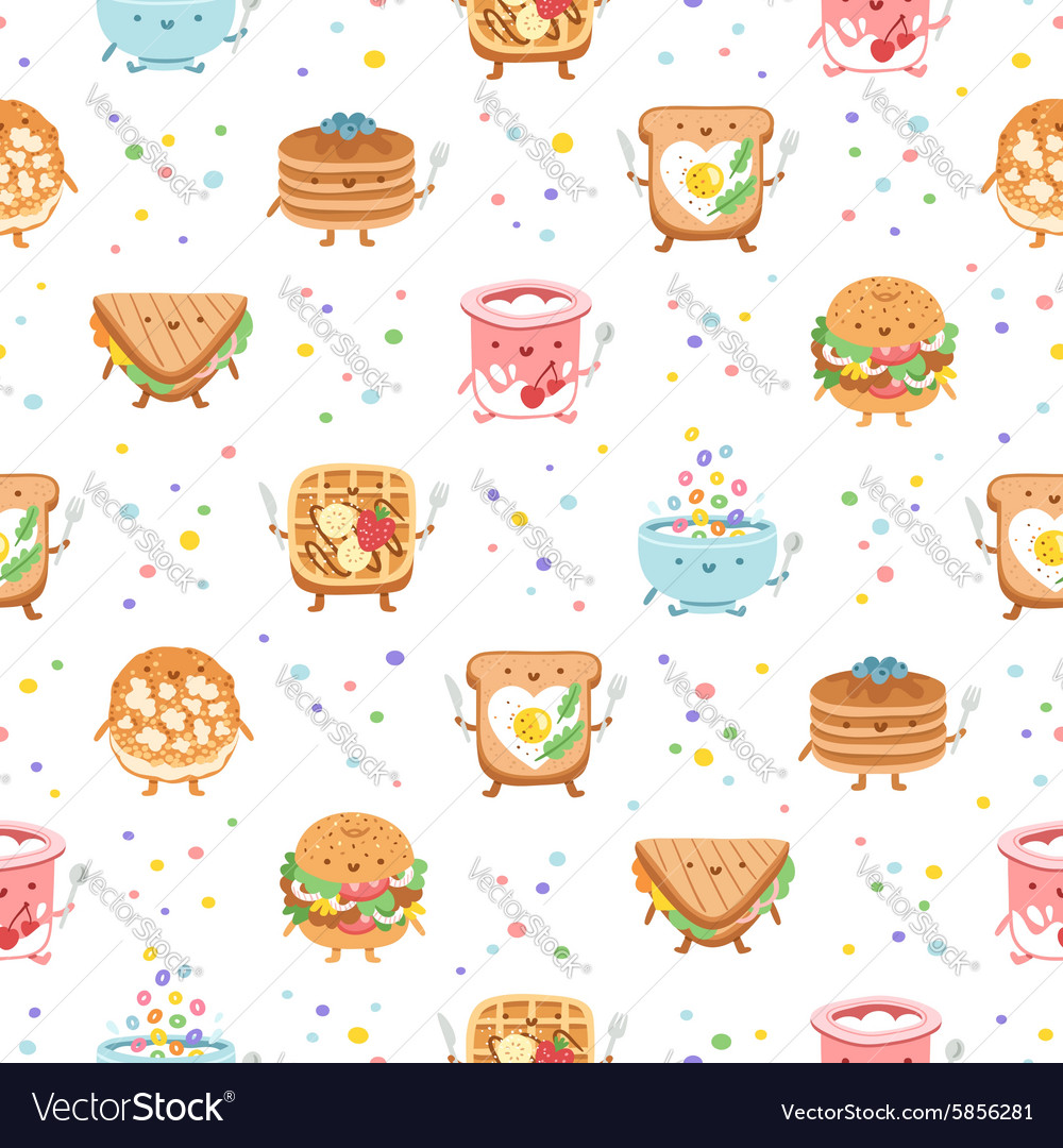 Best breakfast ever seamless pattern vector image