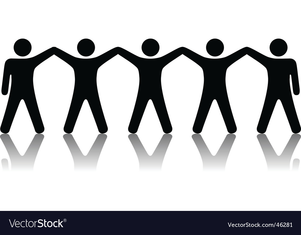 Group of people celebrate teamwork vector image