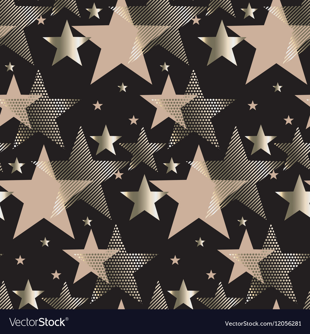 Seamless triangle green and gold luxury pattern on vector image