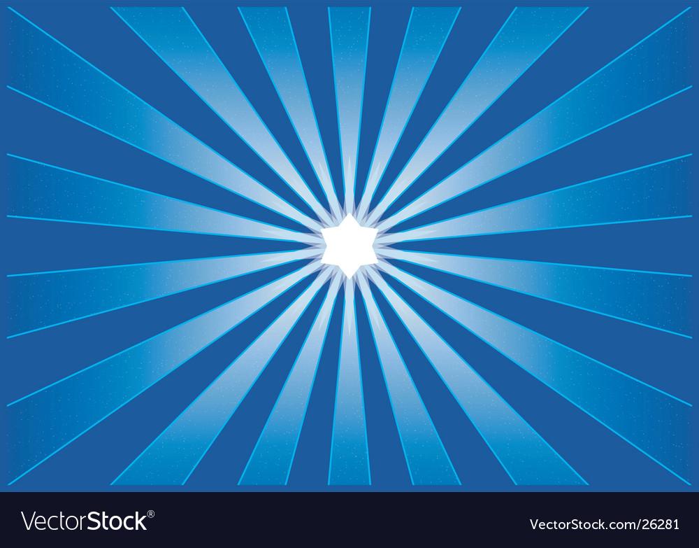 Shining starburst vector image