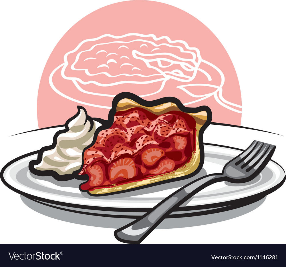 Strawberry pie vector image