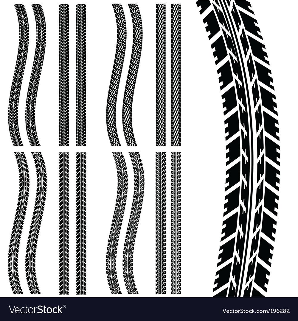 Car tyre vector image