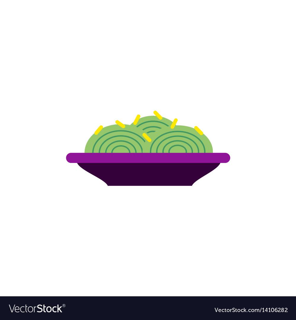 Spaghetti alla carbonara traditional italian dish