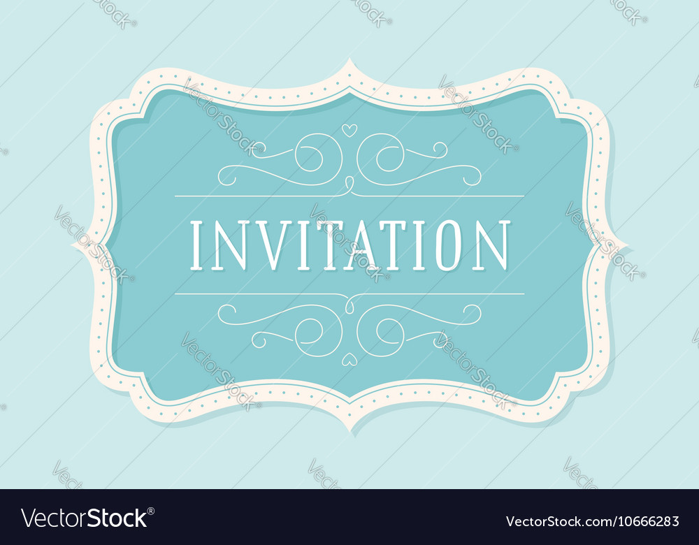 Old vintage frame with text invitation royalty free vector old vintage frame with text invitation vector image stopboris Choice Image