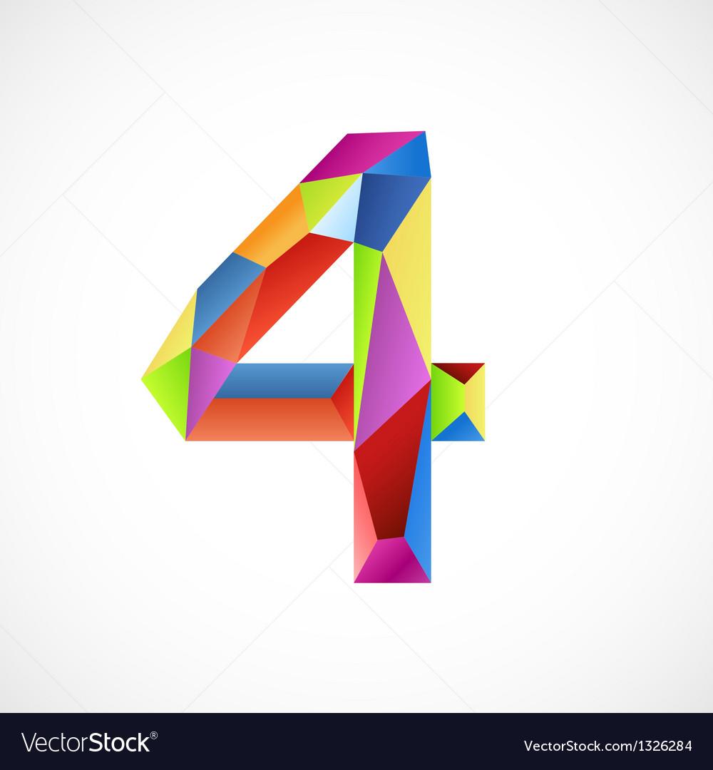 4 color vector image